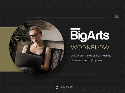 BigArts - Landing Page Design  (web version) ui ux business website landing page design figma web design webdesign norge norway caddiesoft
