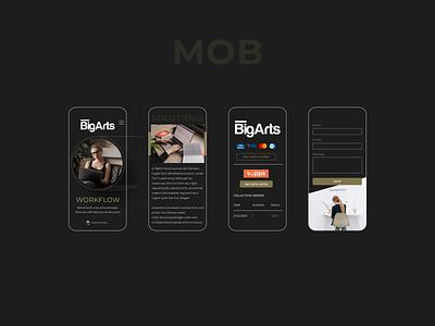 Big Arts - Landing Page Design (mobile) landing page ui landing design landing page design figma mobile design webdesign web design norge norway caddiesoft