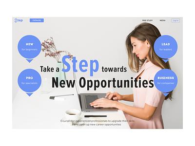 Step | Online Learning Marketplace ui ux website design landing page design online courses figma webdesign web design norge norway caddiesoft
