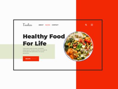 Food & restaurant website UI design / mockup website minimal branding web design ui