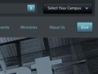Church website top navigation
