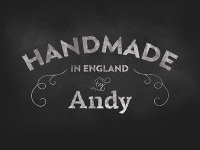 Handmade In England type typography products physical