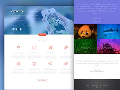 Capacity website app