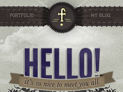 Hello! It's so nice to meet you all logo web clumsy league gothic