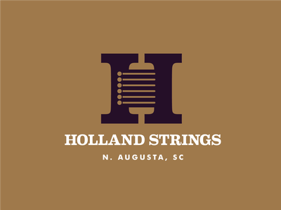Holland Strings luthier branding logo
