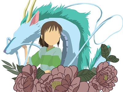 Spirited Away Flowers vector chihiro spirited away studio ghibli peony peonies my neighbor totoro illustration ghitea design ghibli flowers design anime