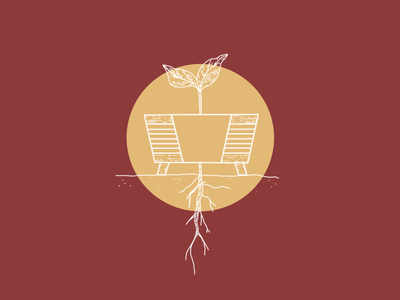 Promise Seed season abstract lines design child promise sprout manger jesus christmas advent illustration roots growth seed