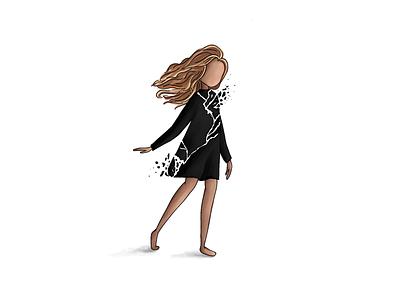 Moving forward freedom forward moving on equality mlk girl pieces black person people art design illustration shattered broken