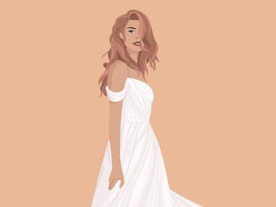 Bridal Illustration graphic design fashion vector adobe procreate digital art wedding illustration bride