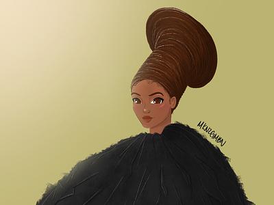 Beyoncé Illustration #2 fashion illustration fashion black is king character concept character illustration art illustration digital art