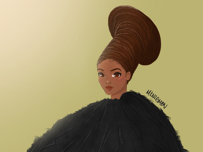 Beyoncé Illustration #2 fashion illustration fashion black is king character concept character illustration art illustration digital art