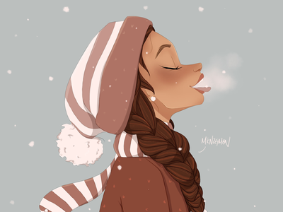 Snowy Day sketching character design character art procreate procreate app sketch drawing illustration digital art