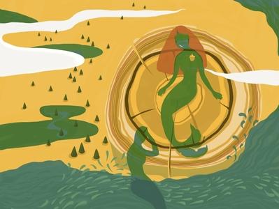 Hollow mermaid mermaid beauty mystery child human figure girl artwork design illustration
