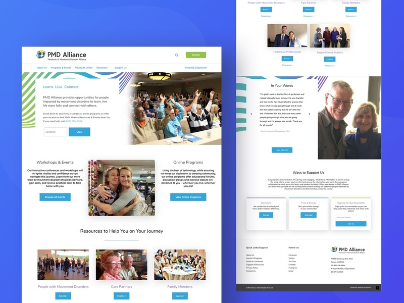PMD Alliance Nonprofit Landing Page sketch mockup website design landing page donate mobile ui wordpress integrations css website ux nonprofit design cause