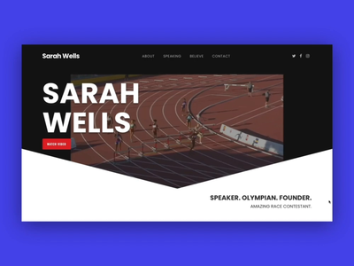 Sarah Wells | Olympian | Speaker | New Website web design canadian canada inspiring speaker olympics hurdler olympian adobe typography wordpress ux ui website graphic design design