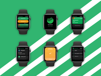 Sberbank for Apple Watch concept bank branding art design website dribbble user experience interface apple ios uiuxdesign ui ux app apple watch sberbank