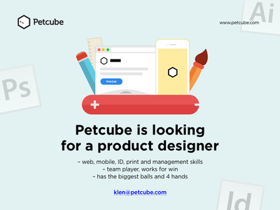 Petcube is looking for a product designer petcube job offer flat illustration