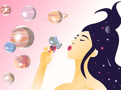 Make your own world. In any way. illustraion be yourself vector icon illustrator illustration art design app illustration