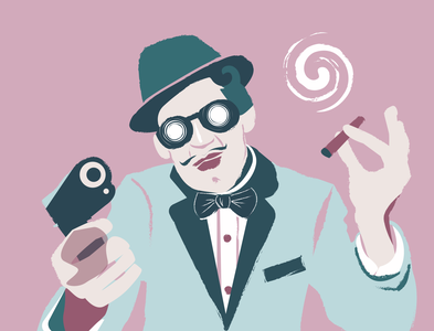 Mafiosi number two vectorillustration design illustration art icon art be yourself illustrator app vector illustration