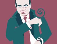 Mafiosi number three logo vectorillustration design illustration art icon art be yourself illustrator app vector illustration