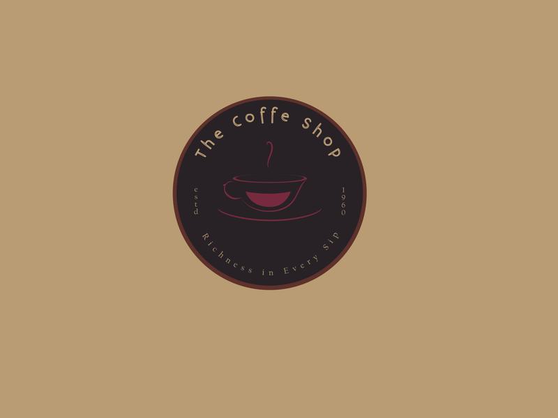 Coffee Shop typography design vector vintage retro logo flat logo illustration