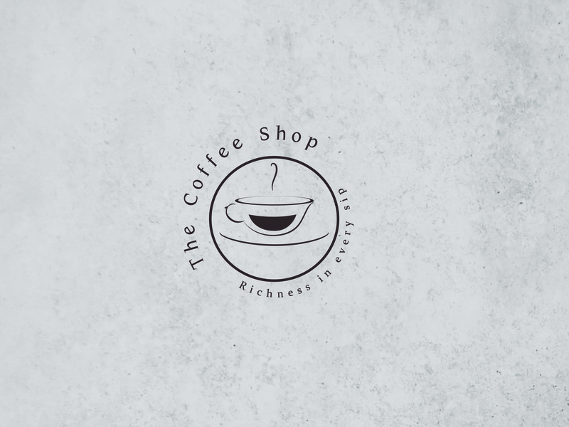 Coffee Shop Concept branding typography logo illustration flat design