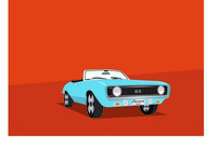 Chevrolet Camaro 1969 car vintage vector design illustration