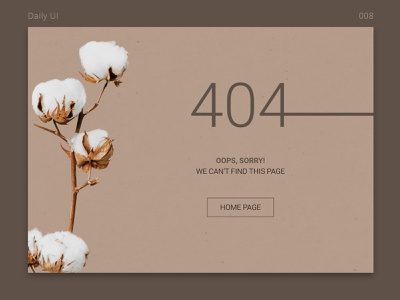 Daily UI #004 | 404 Page typesetting ui design