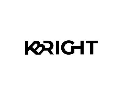 Kbright lettering logo