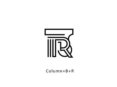 Logo for a law firm. B+R mark sign logo law column rb b r