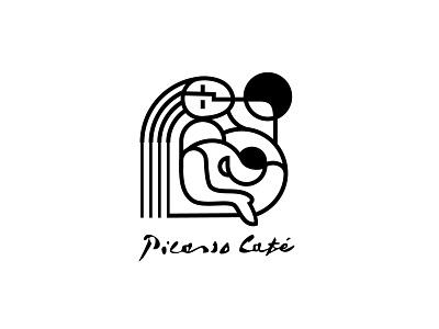 Piccasso Cafe sign mark logo