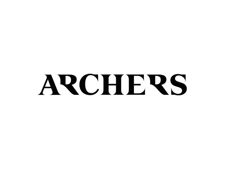 Logo for Archers logomark sign mark branding lettering logo