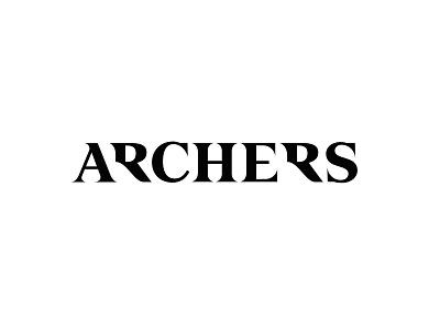 Logo for Archers logomark sign mark branding lettering logo