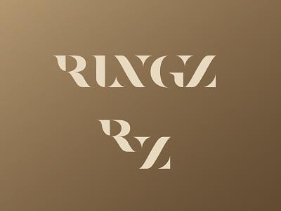 Ringz z r lettering jewelry jewellery logo