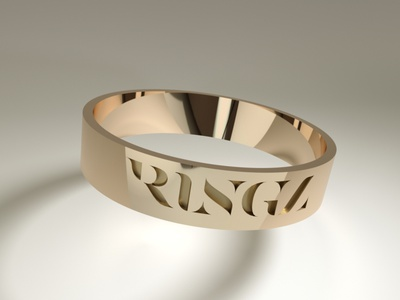 Logo for jewellery brand Ringz lettering jewellery jewelry logo