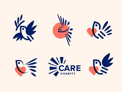 Care Charity charity bird brand mark sign logodesigner logomark branding identity logo