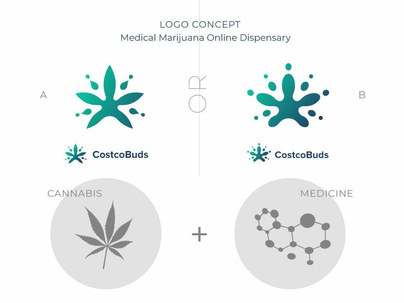 Logo exploration. CostcoBuds. cannabis buds logomark sign logodesigner branding identity logo