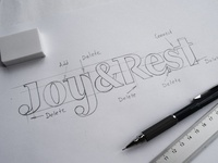 A logo sketch
