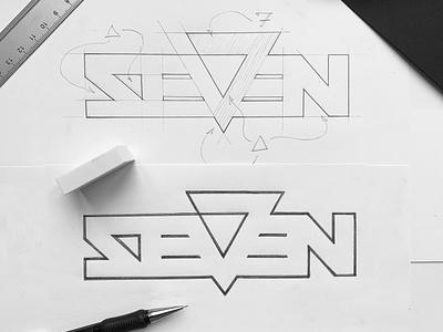 Seven Residence. 3d logo apartments residence seven logo