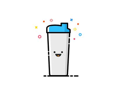 Shaker smile blue color shaker icon