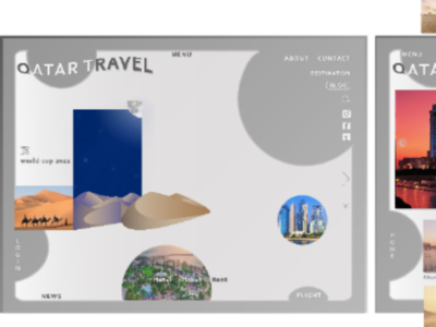 Qatar Travel | Web Design | Illustrator