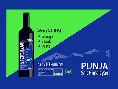 Punja Salt Himalayan logo illustration branding