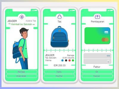 Jeager Bags | Kembali Kesekolah backtoschool bags shopping app jeagerbags uidesign