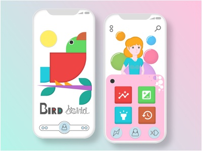 Bird District \\ Illustration vector illustration uidesign
