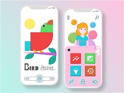 Bird District \\ Illustration vector illustration uidesign