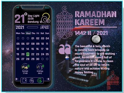 Ramadhan Kareem | Calendar Custome custome calendar ui ramadhan illustration design uidesign