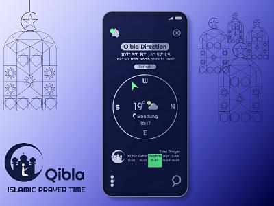 Qibla Apps | The Islamic Prayer Time islamicart prayer ramadan kareem vector indonesia uidesign