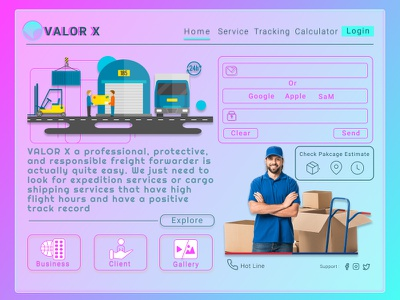 Valor X Home Page | Expedition webdesign expedition design uidesign