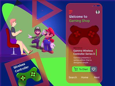 Game Controller design uidesign