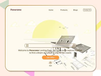 Panorama Property - Landing Page landingpage property sketch panorama webdesign illustration uidesign